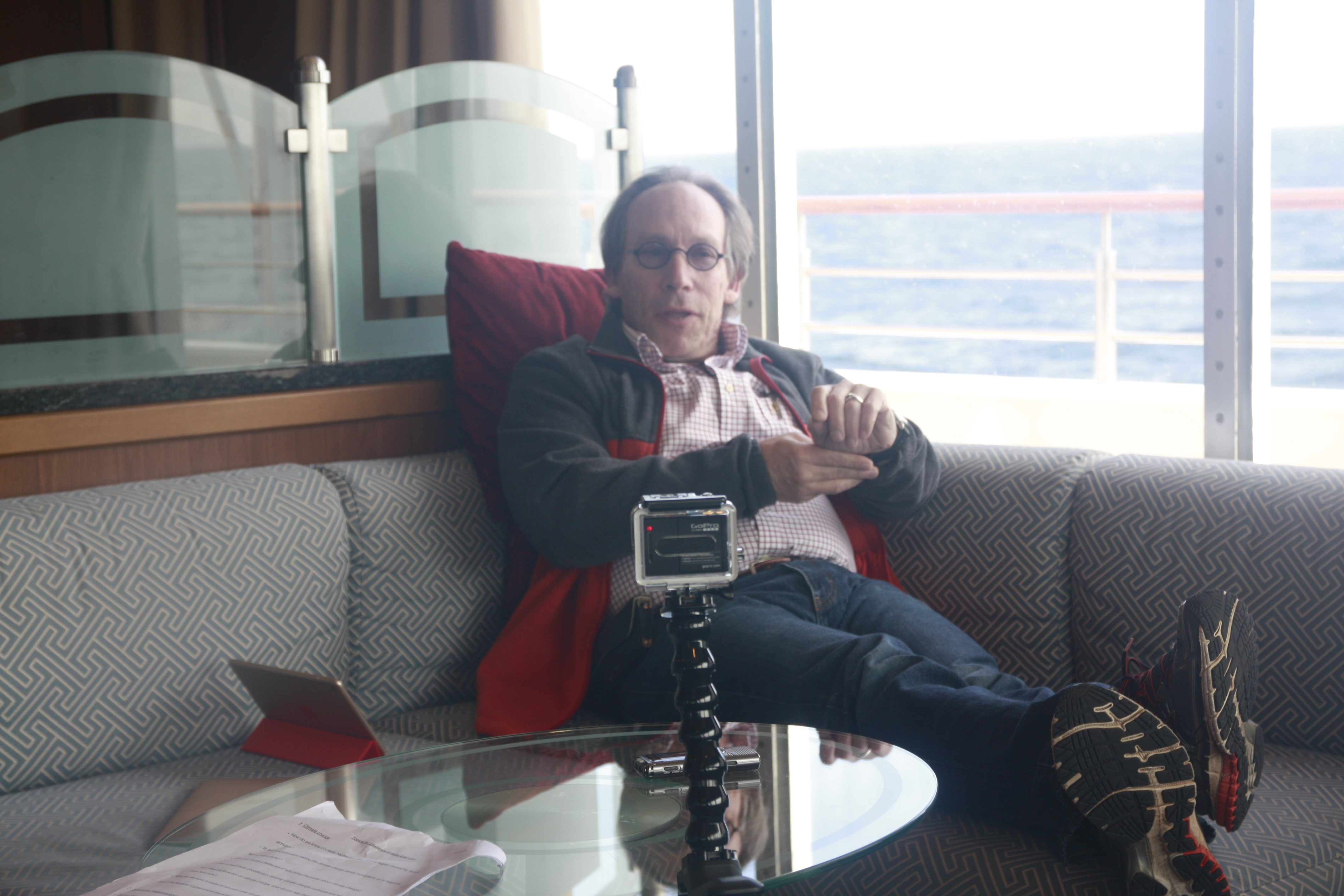 Lawrence Krauss during my interview with him (Photo credit: Michelle Iwen)